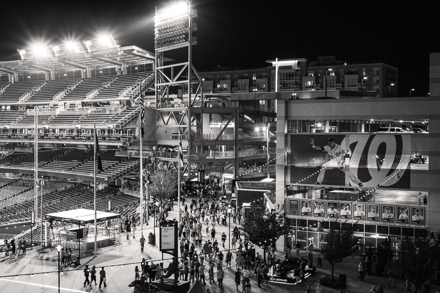 Nationals Park at Night | Closing Time at the Baseball Stadium