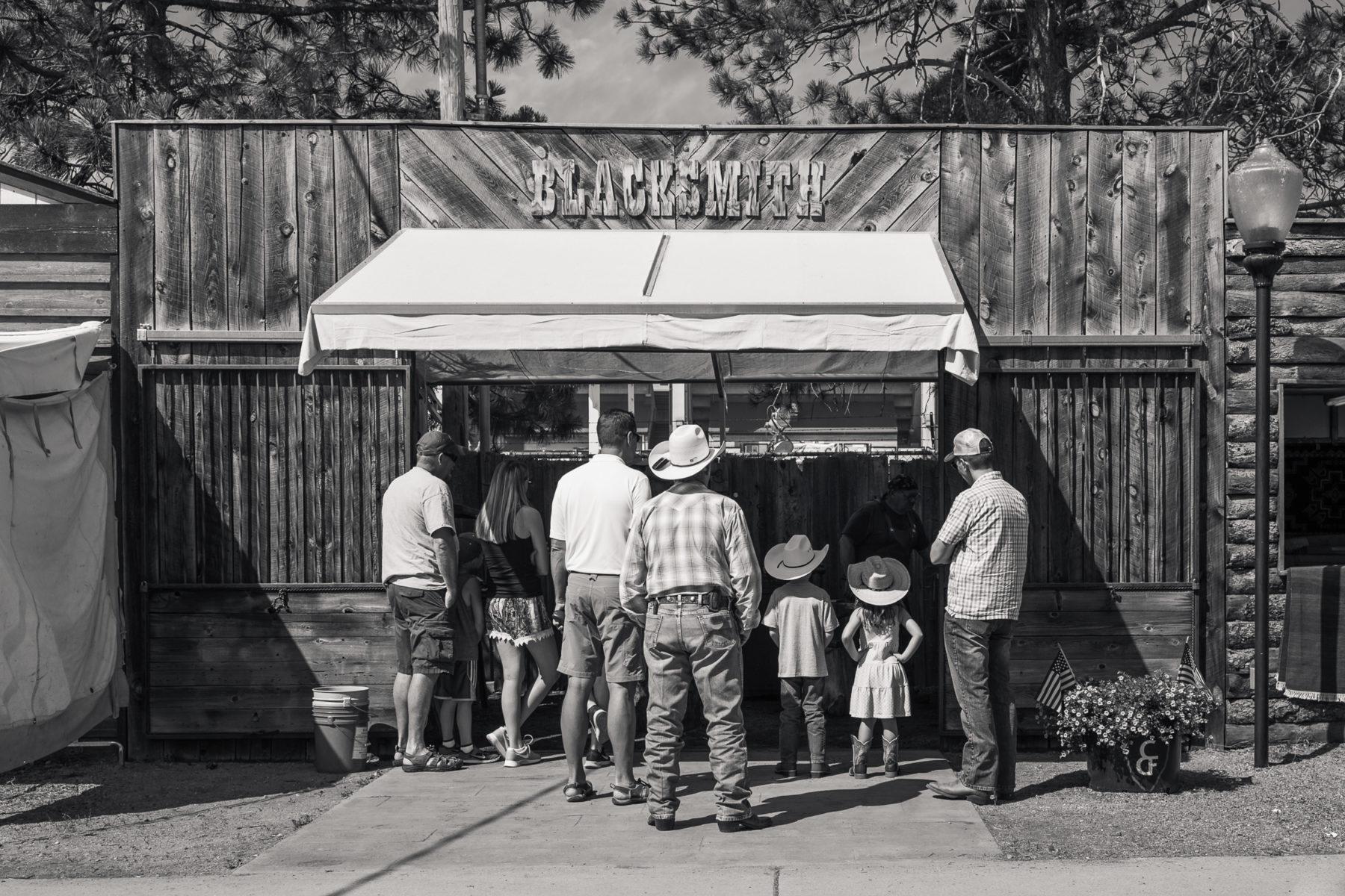 blacksmith shop at Cheyenne Frontier Days