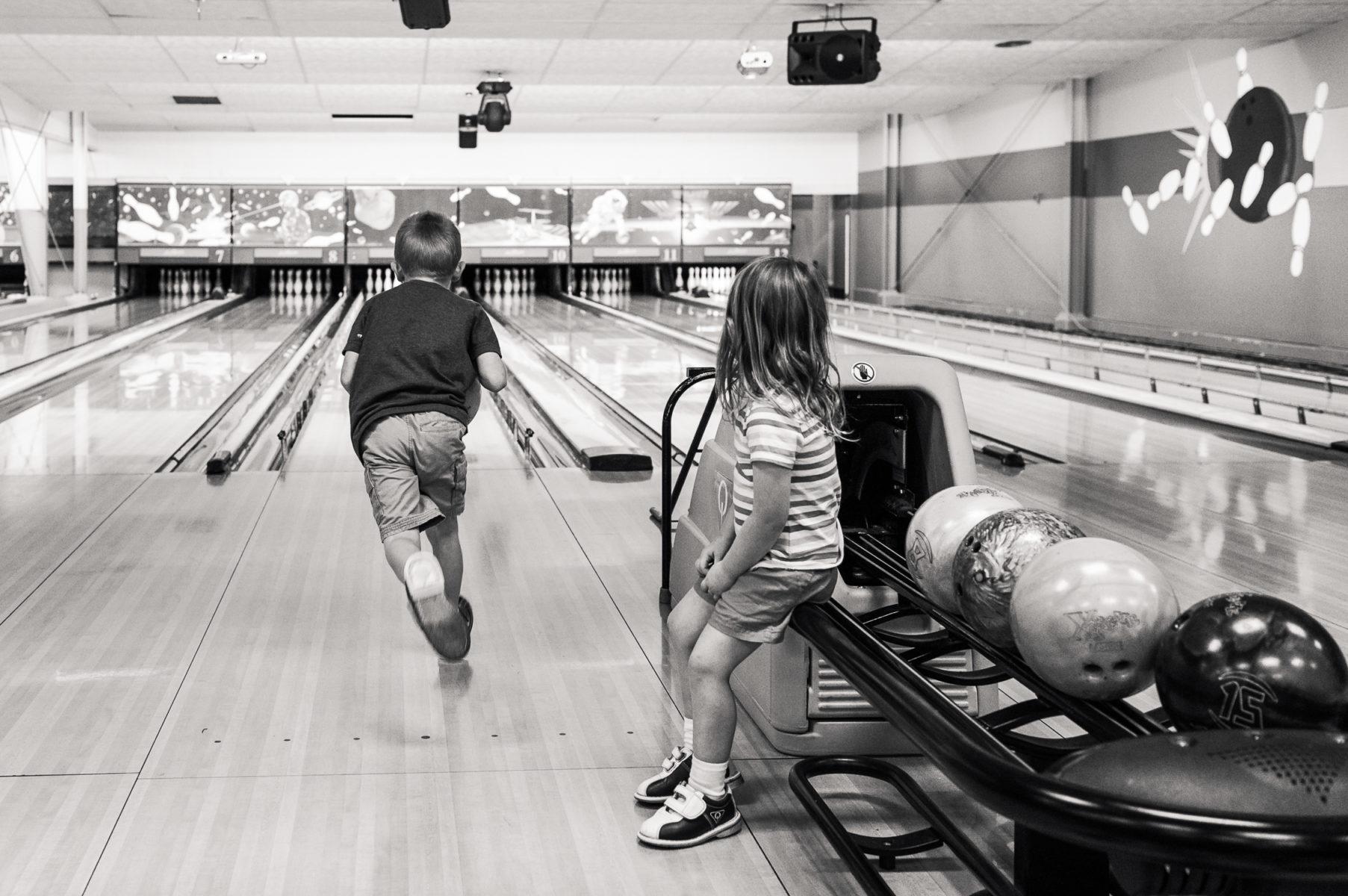 children bowling
