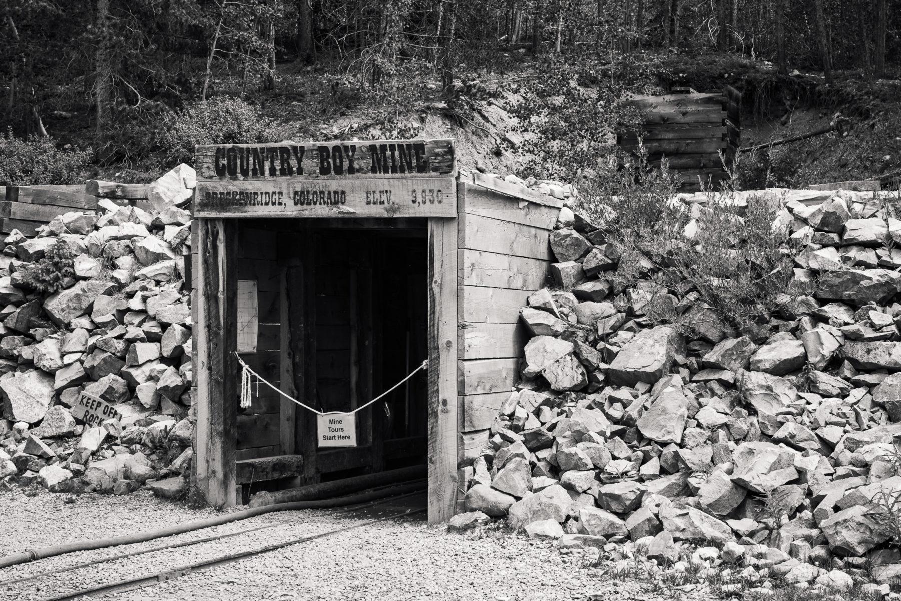 Country Boy Mine entrance in Breckenridge Colorado