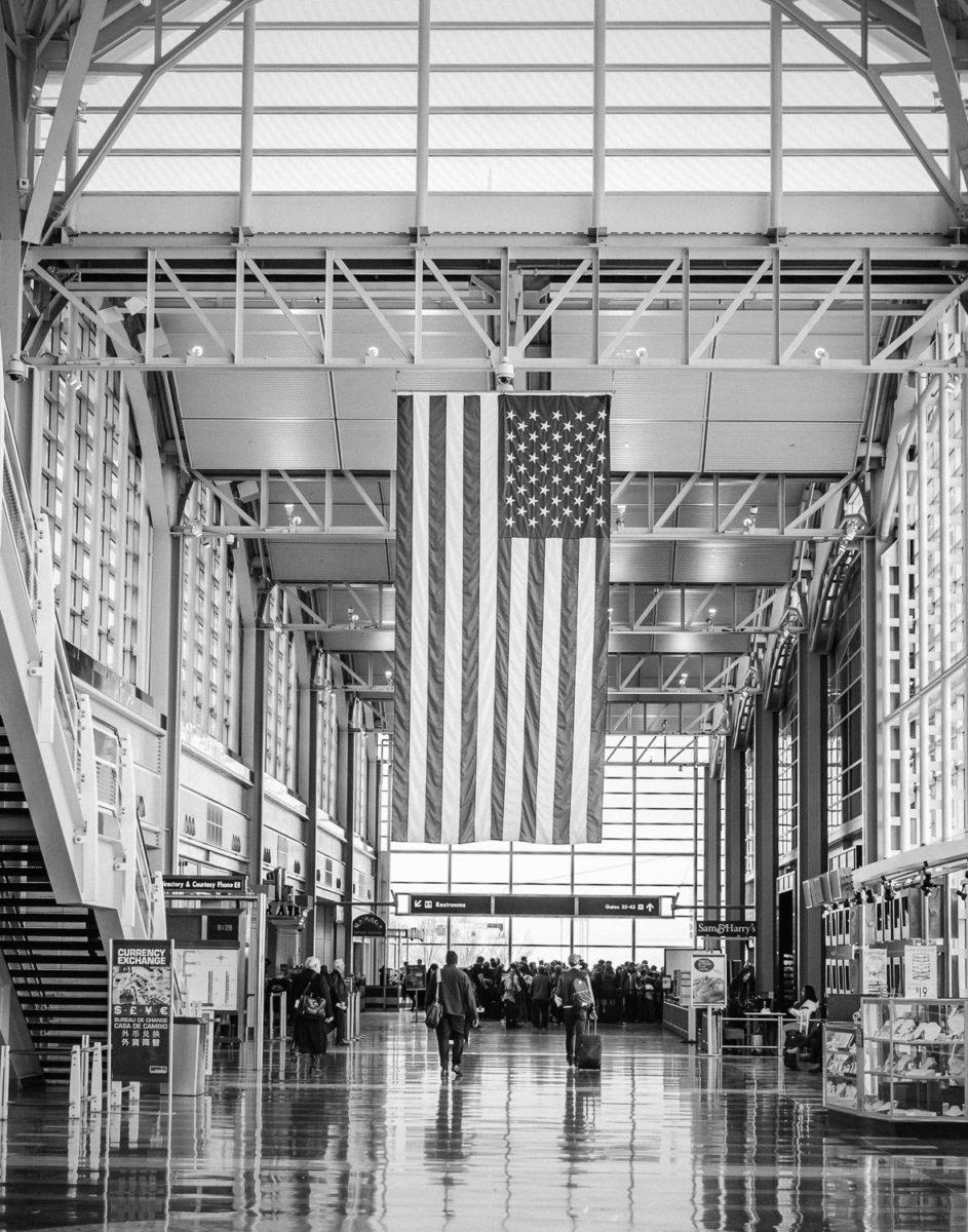 travelers in Washington Reagan National Airport DCA