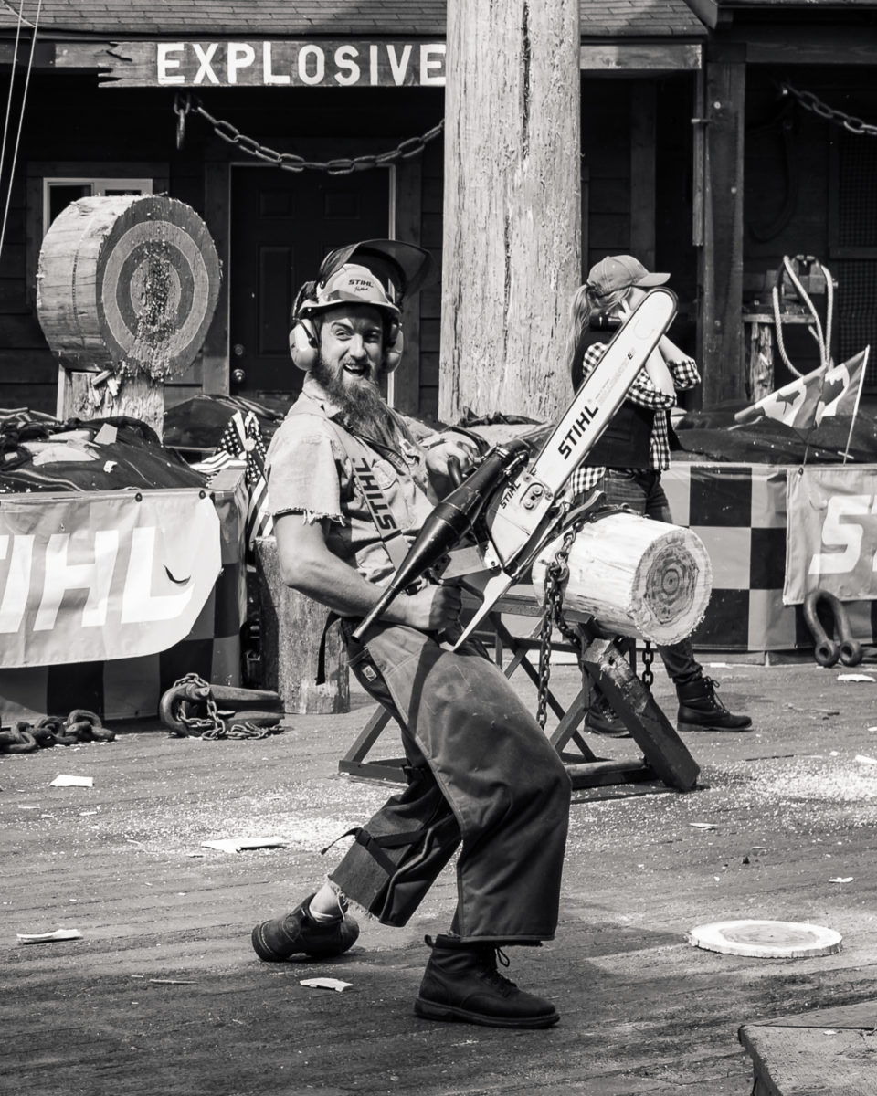 Actor in the Great American Lumberjack Show in Ketchikan