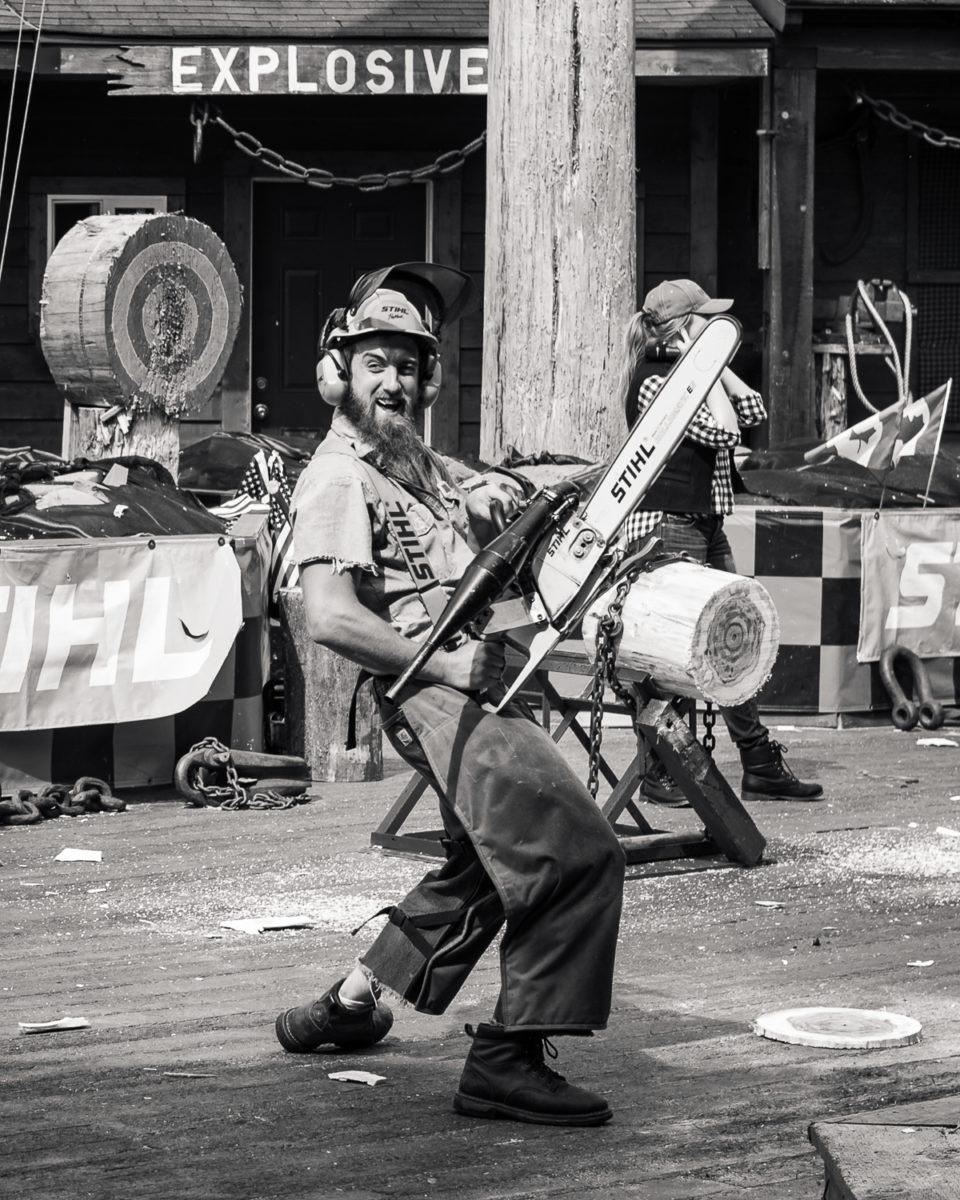 Actor in the Great American Lumberjack Show in Ketchikan