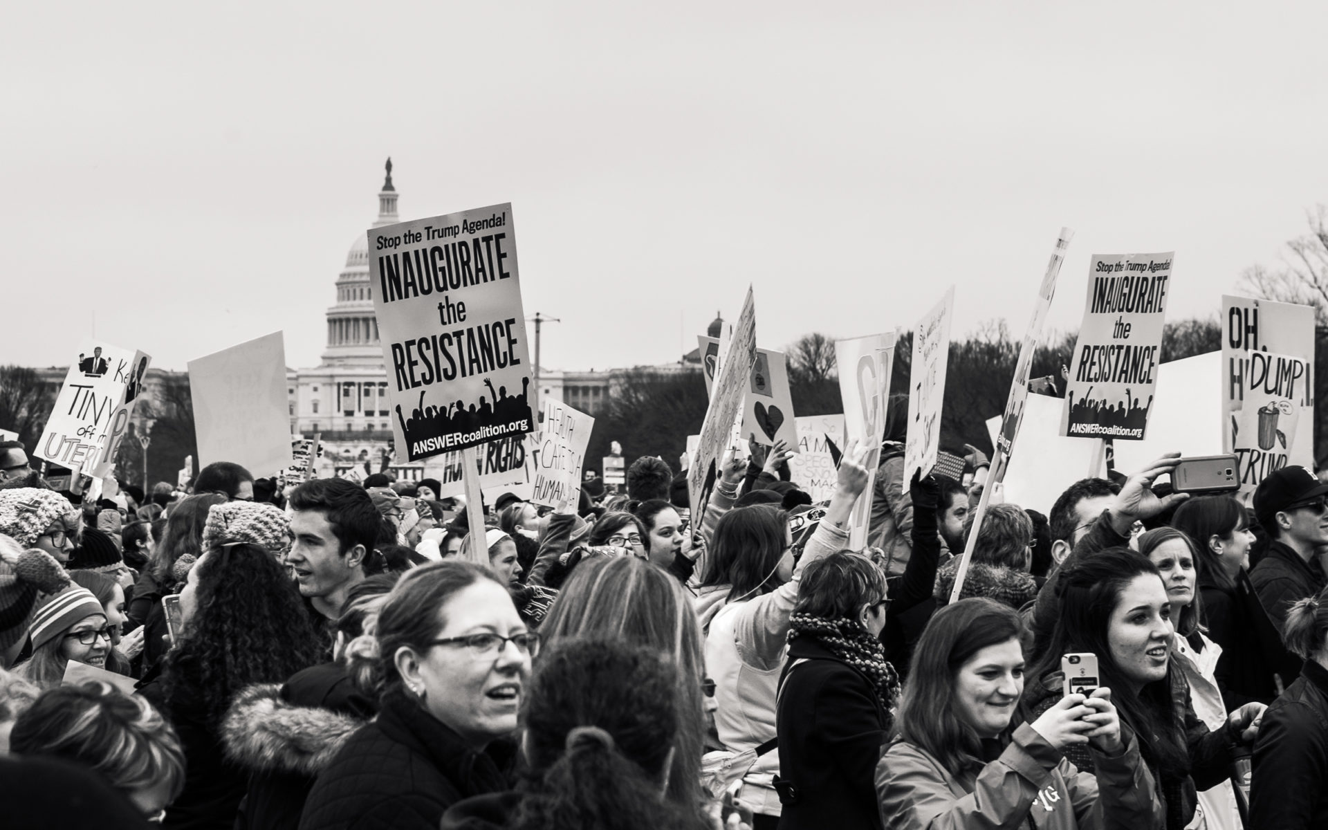 Women's March in Washington DC in front of Capitol Building