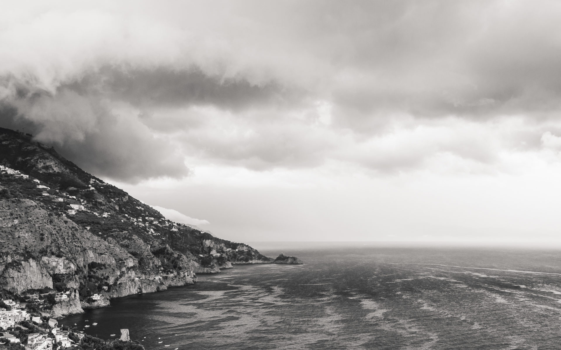Praiano Italy before a storm