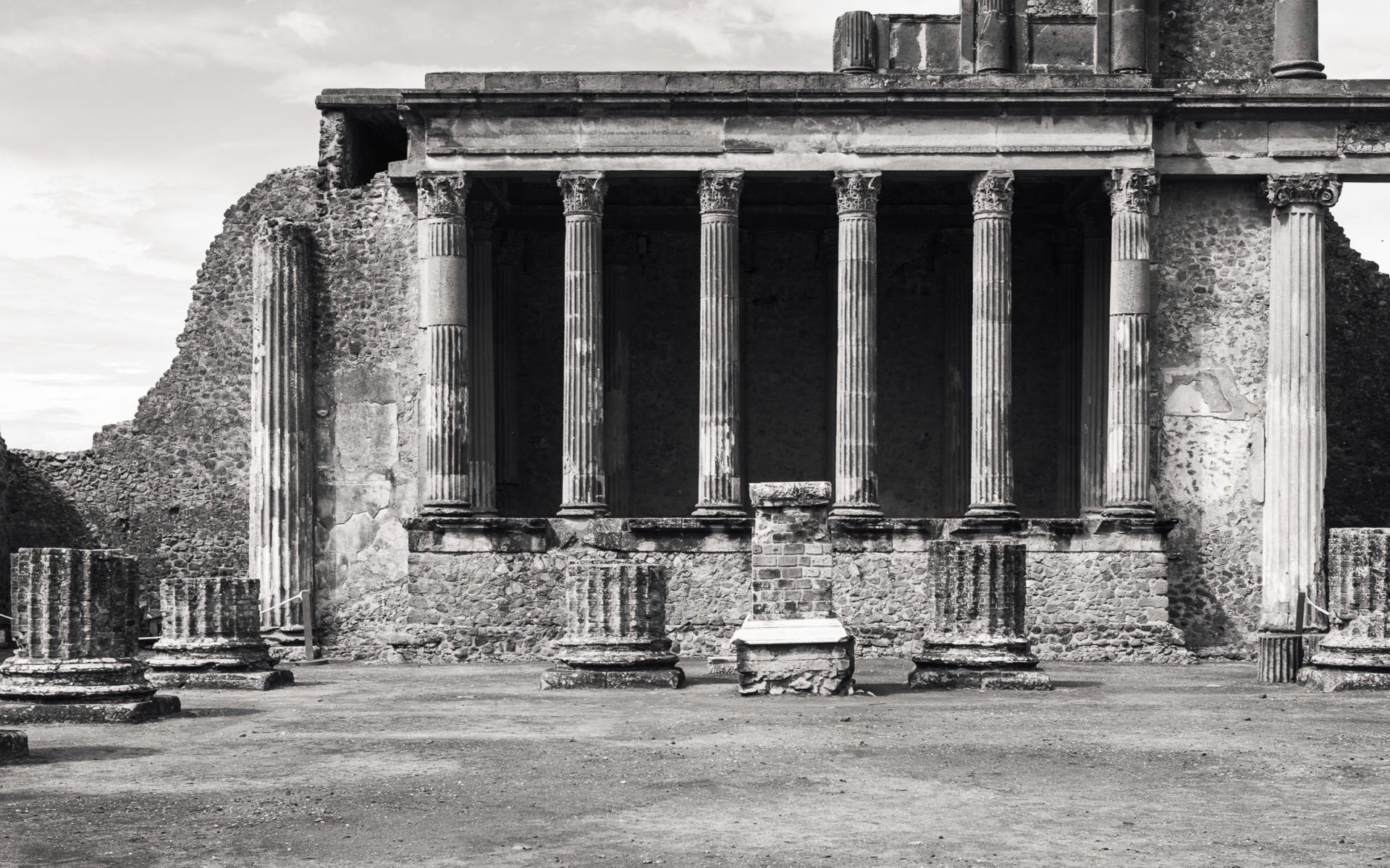 The Courtroom at Pompeii before the tourists