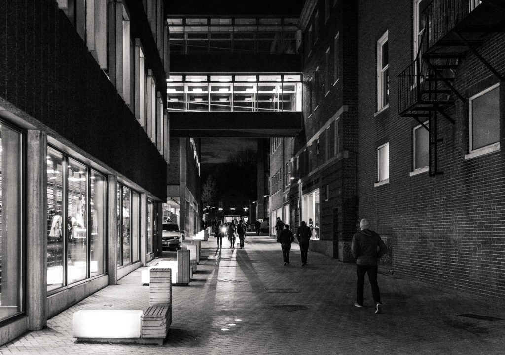 Alley in Harvard Square at Night